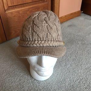 Women's knit hat with brim Calvin Klein like new